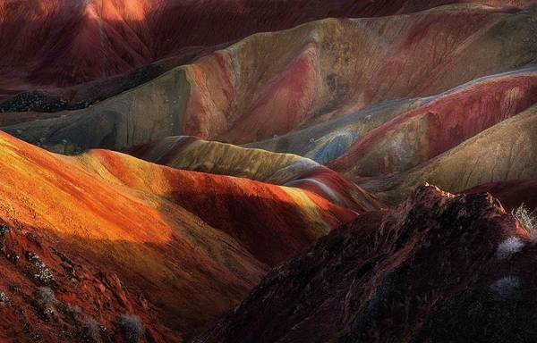Colours Photograph - Danxia Landforms by Fei Shi