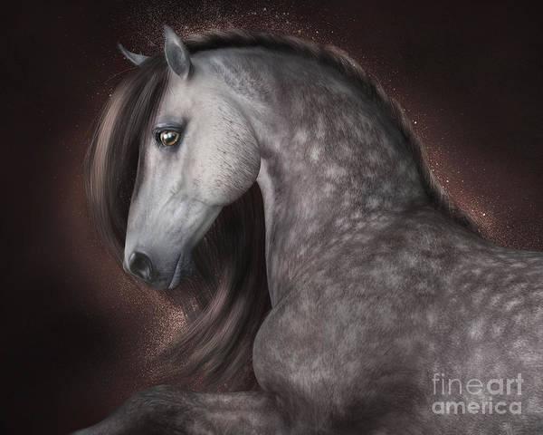 Digital Art - Dappled Grey by Elle Arden Walby