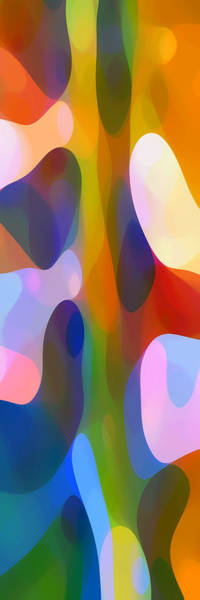 Wall Art - Painting - Dappled Light Panoramic Vertical 2 by Amy Vangsgard