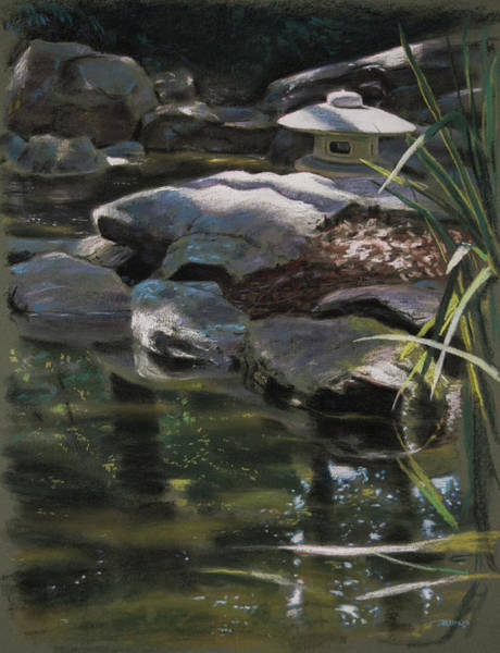 Painting - Dappled Light With Lantern by Christopher Reid