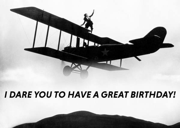 Wall Art - Photograph - Dare Devil Birthday Greeting Card by Communique Cards