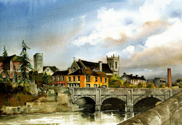 Painting - Dargle Bridge Bray by Val Byrne