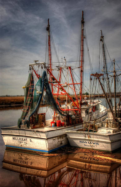 Rigging Photograph - Darien Boats by Greg and Chrystal Mimbs