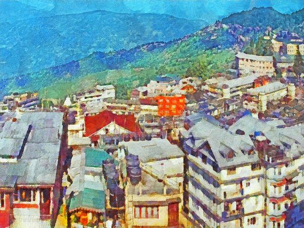 Digital Art - Darjeeling India by Digital Photographic Arts