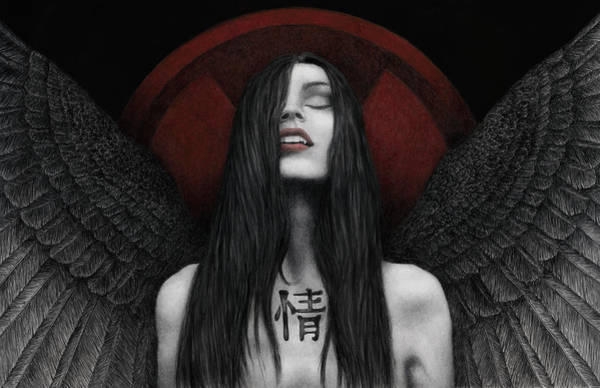 Wall Art - Painting - Dark Angel by Pat Erickson