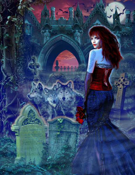 Andrew Farley Photograph - Dark Bride by MGL Meiklejohn Graphics Licensing