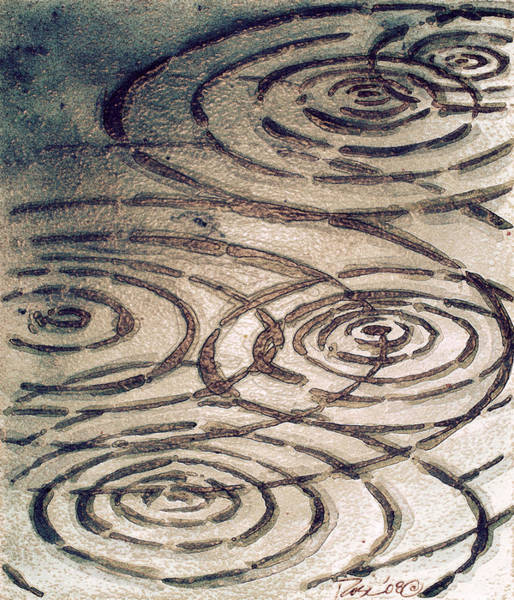 Wall Art - Painting - Dark Chocolate Ripples by Rosemary Craig