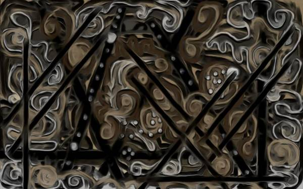 Digital Art - Dark Chocolate Swirl Cake by Barbara St Jean