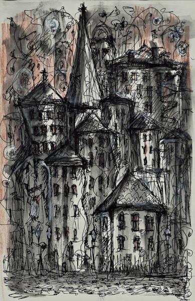 Painting - Dark City by Maxim Komissarchik