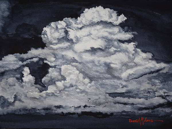 Wall Art - Painting - Dark Clouds By Daniel Adams by Daniel Adams