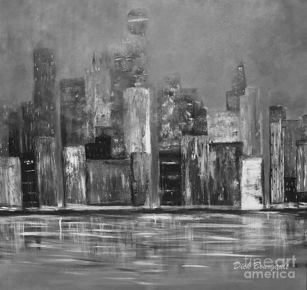 Dark Clouds Over The City Art Print