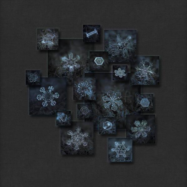 Snowflake Collage - Dark Crystals 2012-2014 Art Print