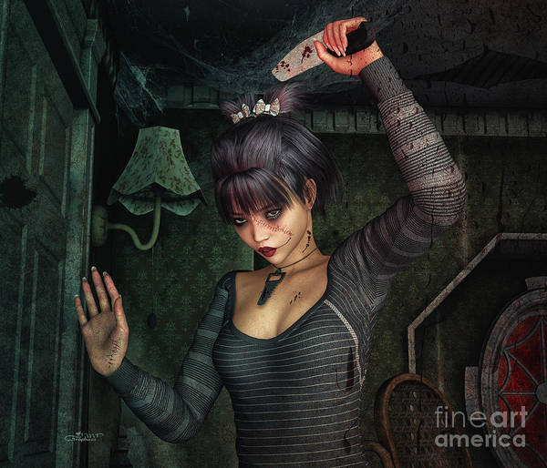 Digital Art - Dark Fantasies by Jutta Maria Pusl