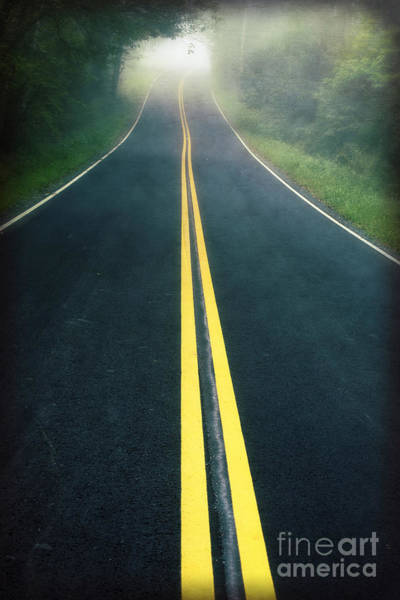 Photograph - Dark Foggy Country Road by Edward Fielding