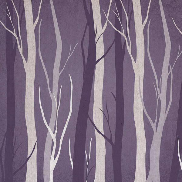 Tree Trunks Wall Art - Digital Art - Dark Forest by Aged Pixel