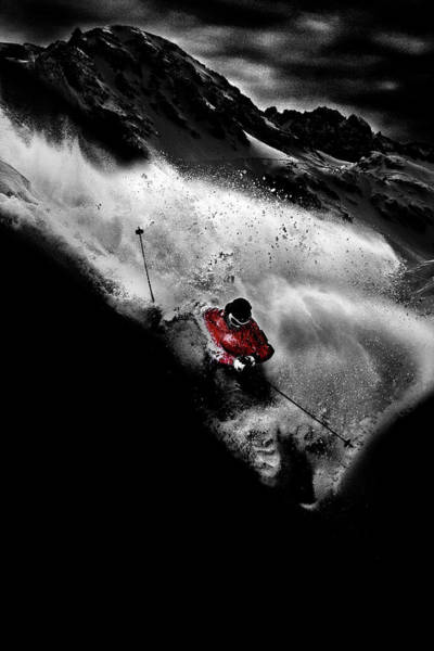 Selective Color Photograph - Dark Freeride by Tristan Shu