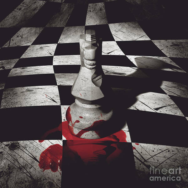 Intelligence Digital Art - Dark Knight Of The Grand Chessboard by Jorgo Photography - Wall Art Gallery