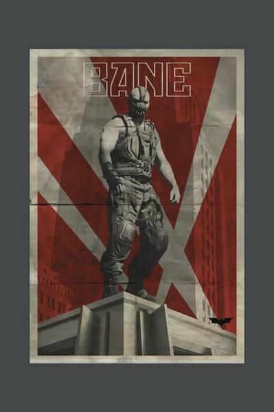 Dark Knight Digital Art - Dark Knight Rises - Bane Rooftop Poster by Brand A