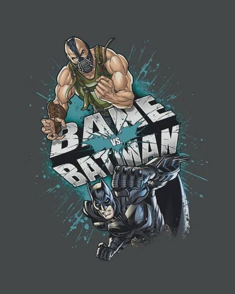 Dark Knight Digital Art - Dark Knight Rises - Bane Vs Batman by Brand A