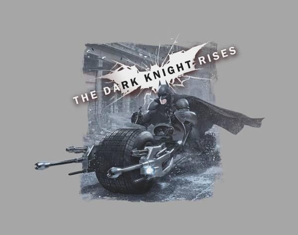 Dark Knight Digital Art - Dark Knight Rises - Batpod Breakout by Brand A
