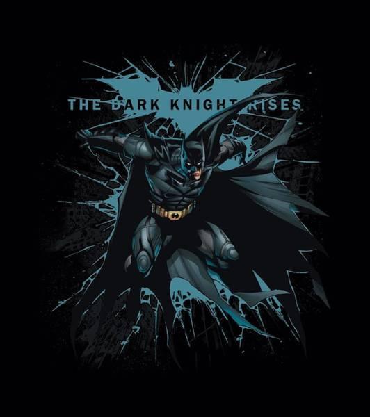 Dark Knight Digital Art - Dark Knight Rises - Blue Crackle by Brand A