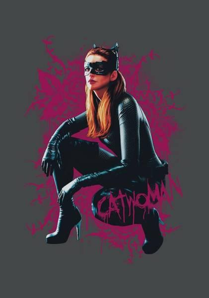 Dark Knight Digital Art - Dark Knight Rises - Catwoman Roses by Brand A
