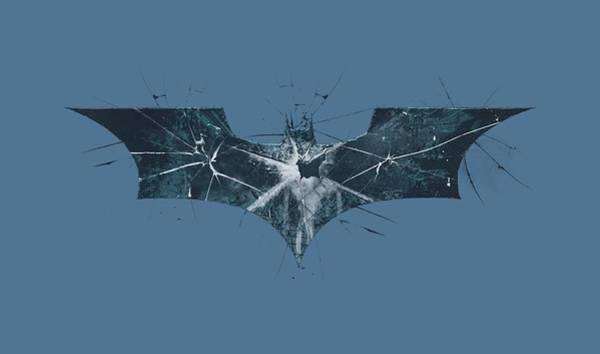 Dark Knight Digital Art - Dark Knight Rises - Cracked Glass Logo by Brand A