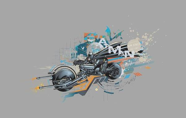 Dark Knight Digital Art - Dark Knight Rises - Dark Rider by Brand A