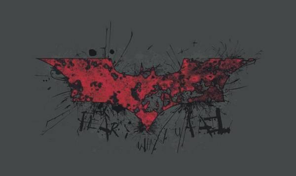 Dark Knight Digital Art - Dark Knight Rises - Fear Logo by Brand A
