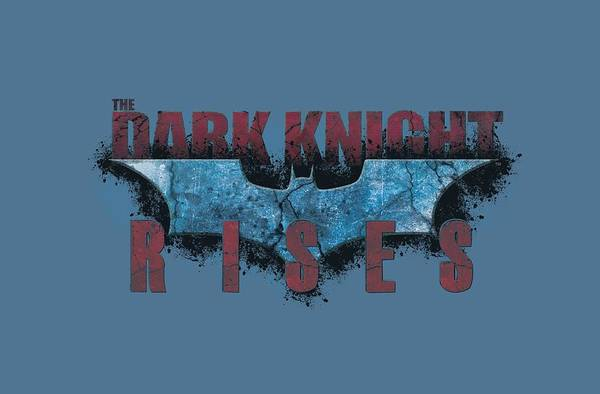 Dark Knight Digital Art - Dark Knight Rises - Rising Text by Brand A