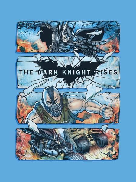 Dark Knight Digital Art - Dark Knight Rises - Shattered Glass by Brand A