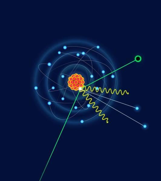 Proton Photograph - Dark Matter Colliding With An Argon Atom by David Parker