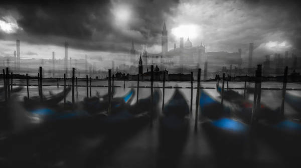 Gondola Photograph - Dark Mood by Carmine Chiriac?