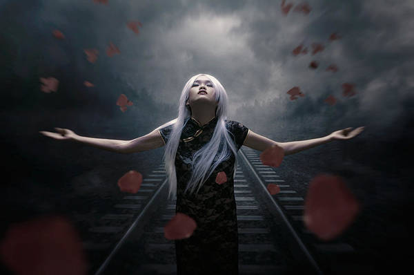 Railroads Photograph - Dark Of Beauty Conceptual by Mohamad Mahir