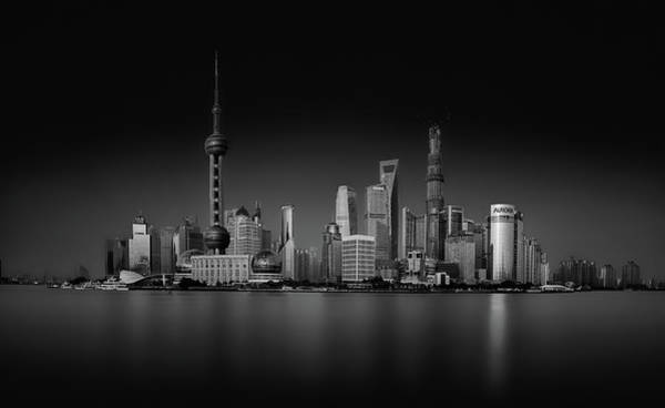 Silky Wall Art - Photograph - Dark Pudong by Stefan Schilbe