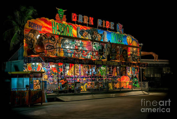 Fairground Photograph - Dark Ride by Adrian Evans
