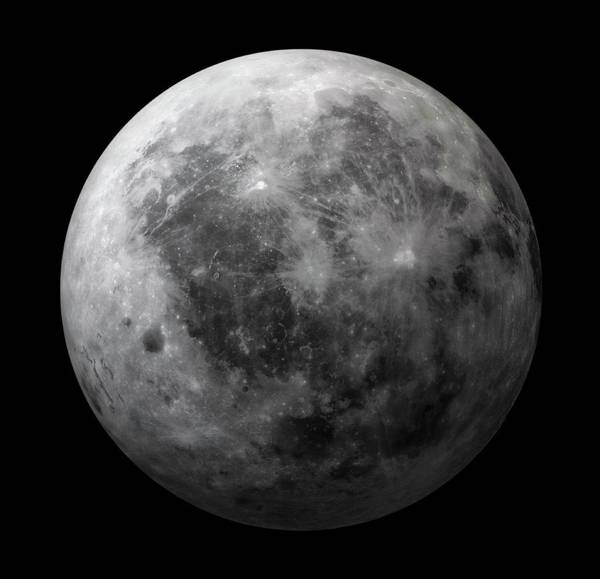 Moonscape Photograph - Dark Side Of The Moon by Andrzej Wojcicki/science Photo Library