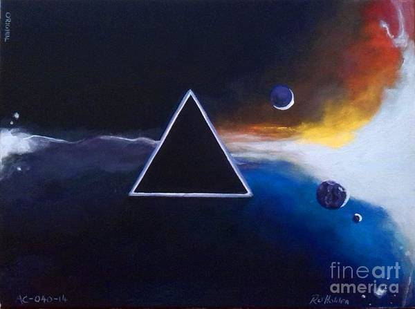 Pink Floyd Painting - Dark Side Of The Moon - Pink Floyd by Richard John Holden RA