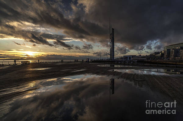 Elliot Bay Wall Art - Photograph - Dark Skies Reflected by Mike Reid