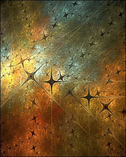 Dark Star Grid Art Print