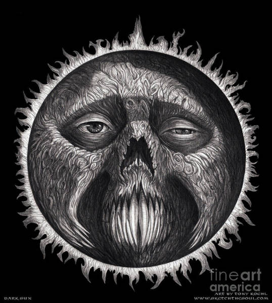 Drawing - Dark Sun by Tony Koehl