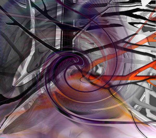 Digital Art - Dark Sunset Comes To The Forest - Abstract by rd Erickson