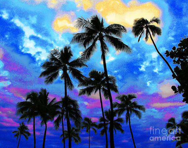 Photograph - Dark Waikiki Beach Dusk by Larry Oskin