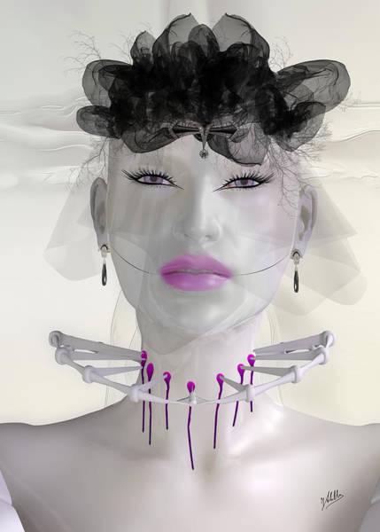 Dummy Digital Art - Dark Will. The Murderous Widow. by Quim Abella