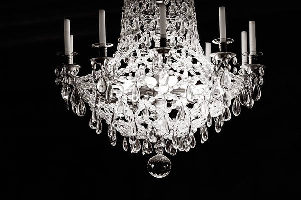 Chandelier Photograph - Darkness And Light by Melanie Alexandra Price