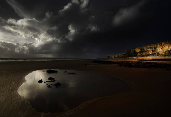 Cardiff Photograph - Darkness At Traeth Mawr by Unique Landscape Images