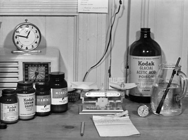 Wall Art - Photograph - Darkroom Ingredients by Underwood Archives