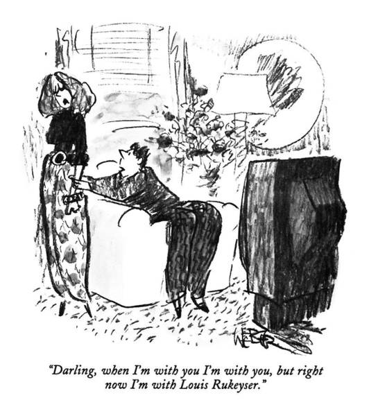 Stock Market Drawing - Darling, When I'm With You I'm With You, But by Robert Weber
