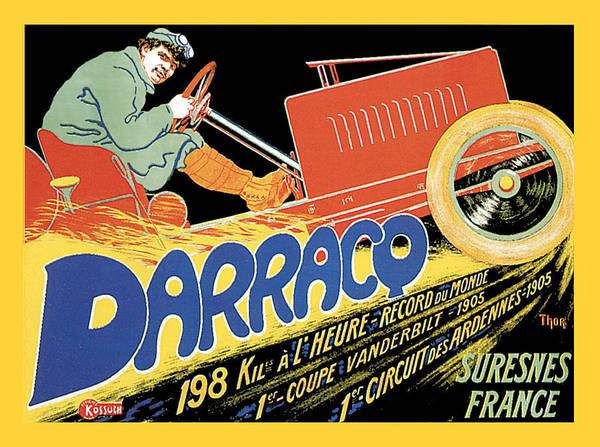 Photograph - Darracq Suresnes France by Vintage Automobile Ads and Posters