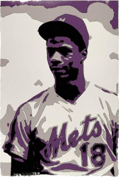 Pitcher Painting - Darryl Strawberry Poster Art by Florian Rodarte